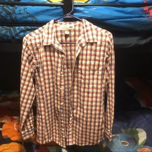 Boys Old Navy button Up plaid